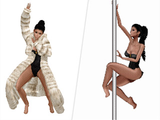 Kim Kardashian's New Animated Kimojis Hit the Stripper Pole and Dirty Dance in Fur Coats