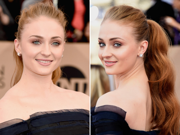 SAG Awards 2016 Sophie Turner ponytail