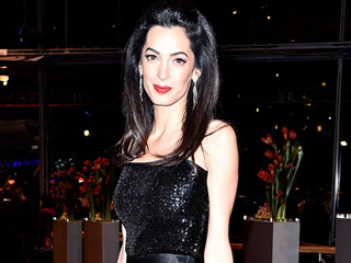 All the Details on Amal Clooney's Vintage Yves Saint Laurent Gown (It's Covered in 10,000 Sequins!)