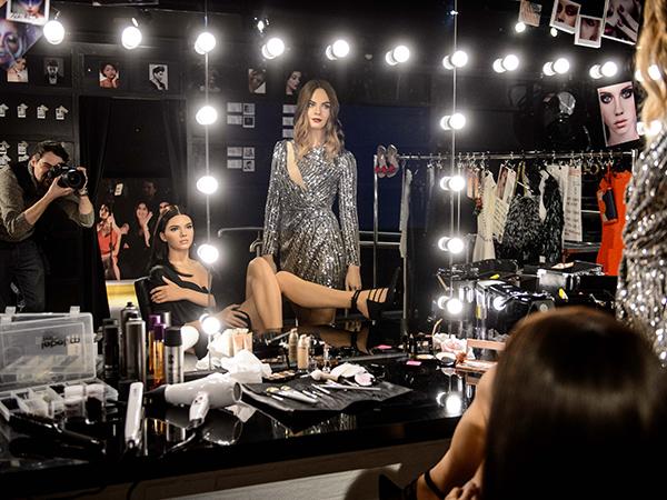 Kendall and Cara at Madame Tussauds