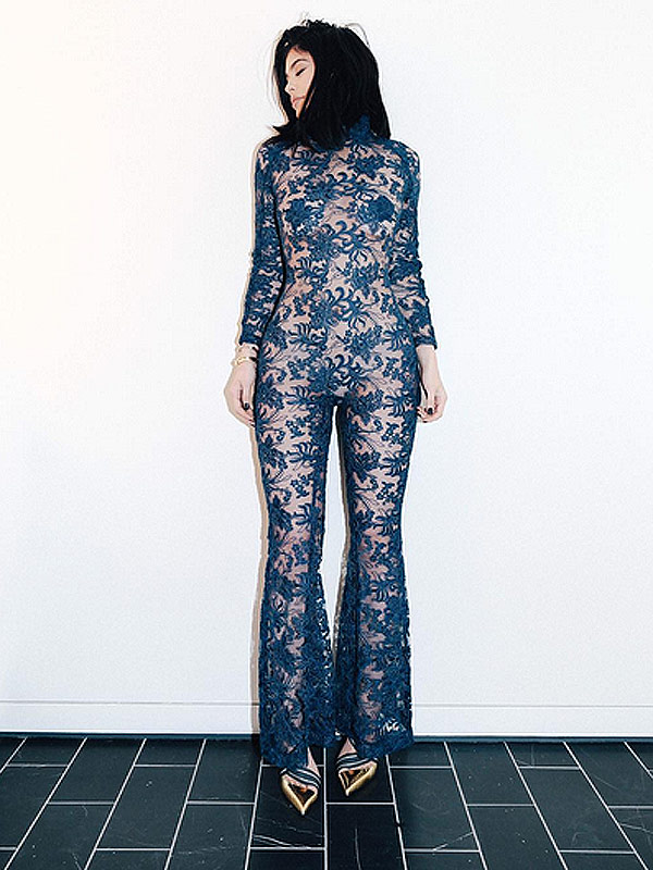 Kylie 39 S Kourageous Jumpsuit The Star 39 S Body Baring Fashion Week Look American Superstar Magazine