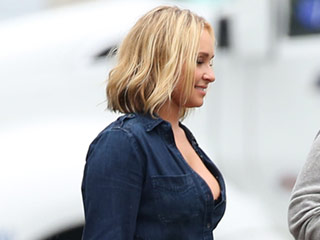 Hayden Panettiere Makes Double Denim Look Sexy with Pair of Daisy Dukes