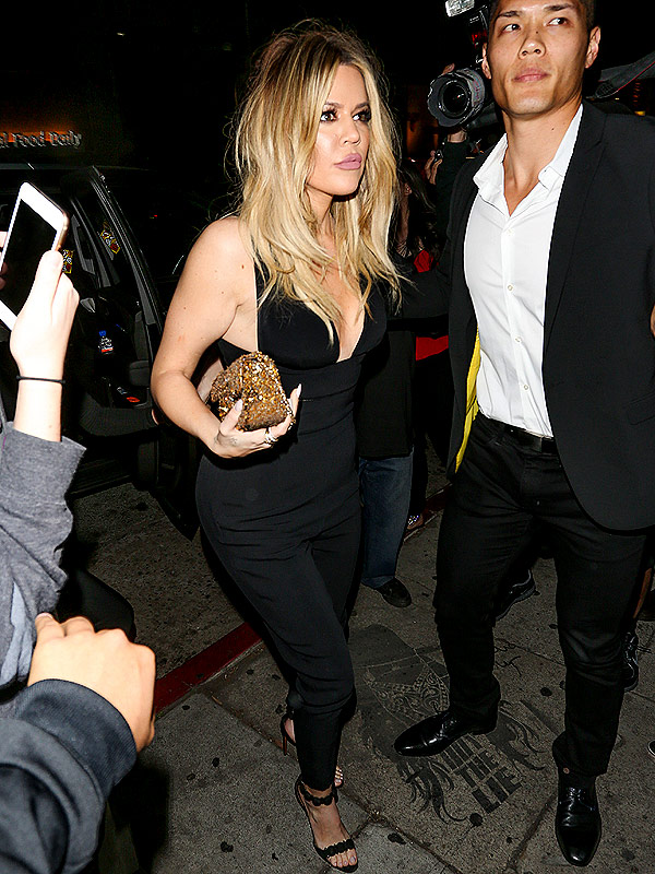 Khloe Kardashian post-Grammys party