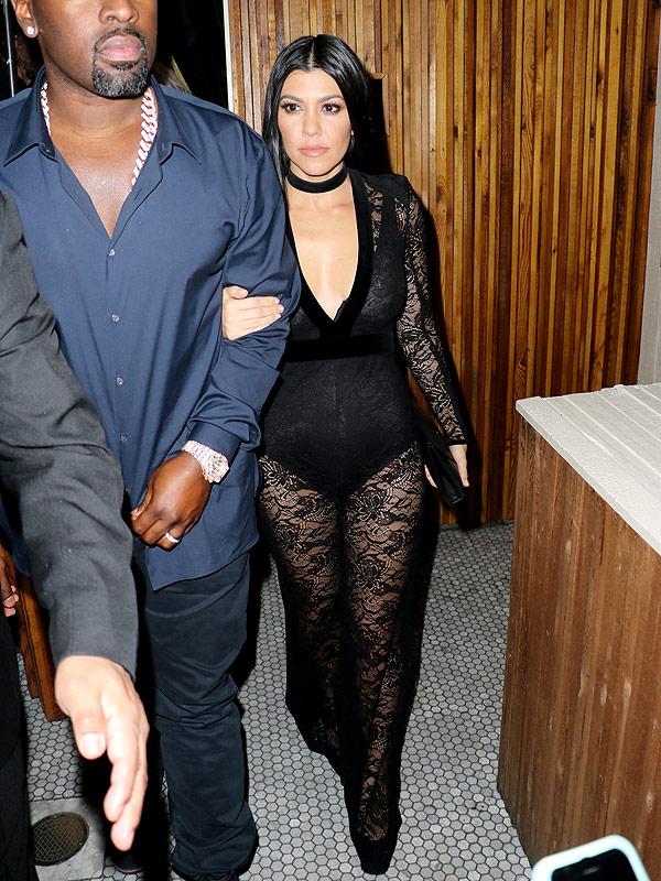 Kourtney Kardashian post-Grammys party