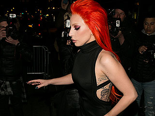 Lady Gaga's Fresh David Bowie Tattoo Has Healed – and It's on Display in This Sexy Dress