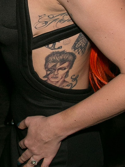 Lady Gaga's Fresh David Bowie Tattoo Has Healed – and It's on Display in This Sexy Dress| Music News, David Bowie, Lady Gaga
