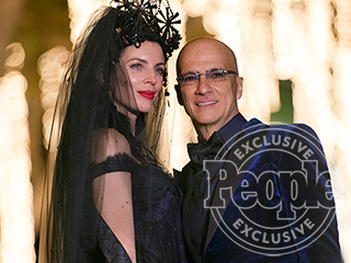 Model Liberty Ross Wears Vintage Black Wedding Gown and Huge Headpiece to Marry Jimmy Iovine