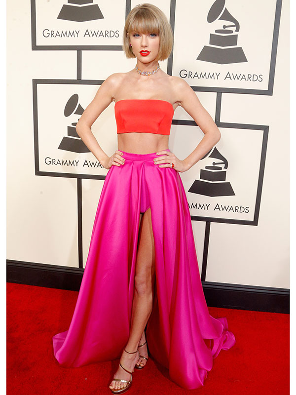 Taylor Swift Grammys 2016 red carpet