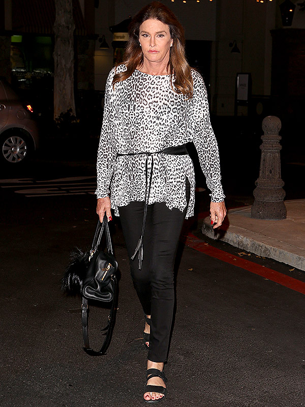 Caitlin jenner leopard top