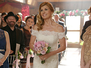First Look: See the Custom Wedding Gown Nashville's Rayna James Wears to (Finally!) Walk Down the Aisle