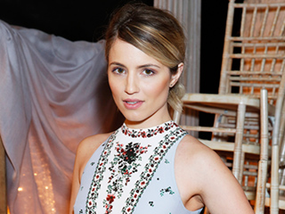 Dianna Agron Wears Diamond Engagement Ring for the First Time During London Fashion Week