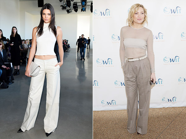 Kendall Jenner Kate Hudsong Wide-Leg Pants