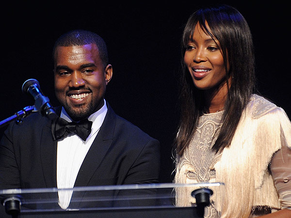 Naomi Campbell and Kanye West Yeezy