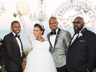 How NE-YO's Wife Found the Perfect Wedding Dress for Her 9 Months-Pregnant Bump