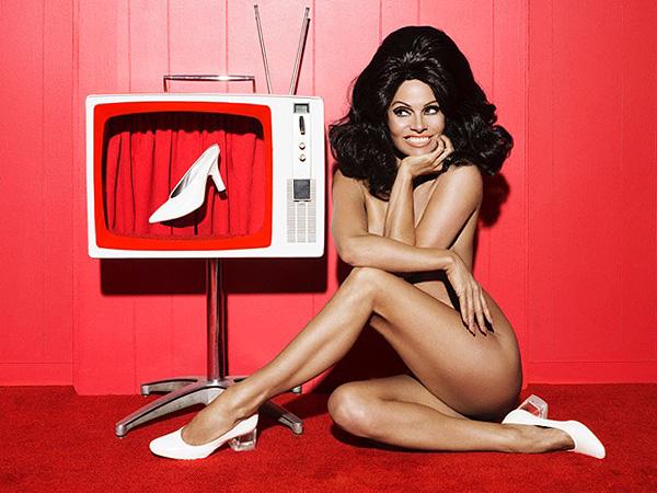 Pamela Anderson naked Paper magazine shoe line