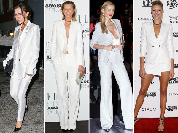trending: celebs in white suits
