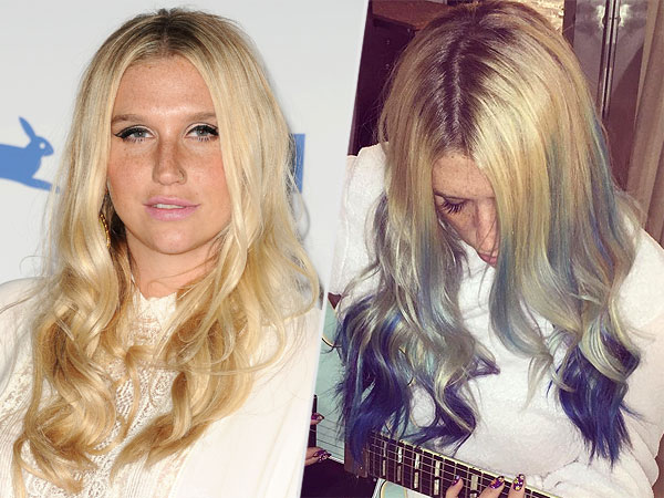 Kesha dyes hair mermaid hair