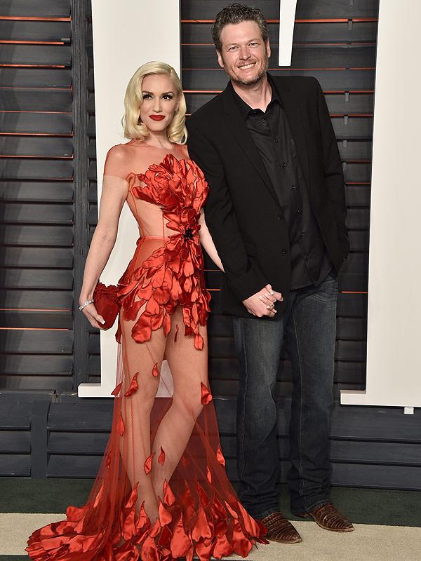 Gwen Stefani and Blake Shelton Vanity Fair Oscars Party