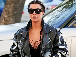 Kim Kardashian West Picks Her Self Portrait-Covered Jacket for Movie Date Night
