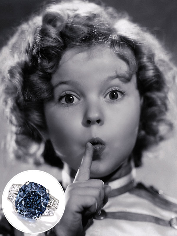Shirley Temple's Rare Blue Diamond Ring Will Be Auctioned (Got $35 ...