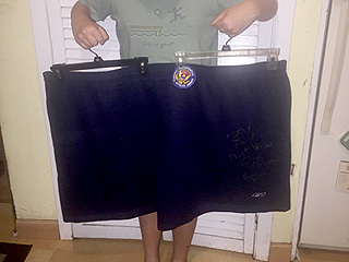 You Could Be the Proud Owner of Chris Christie's Gym Shorts (They're Even Autographed!)
