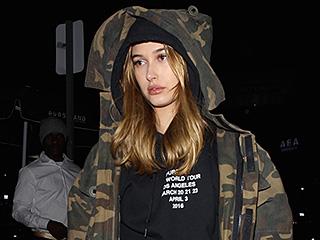 Hailey Baldwin Goes Pantsless, Kim and Kanye Wear Matching Denim to Justin Bieber's L.A. Concert
