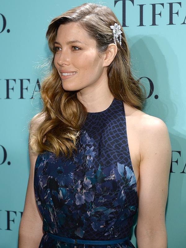 Jessica Biel Tiffany Blue Book jewelry