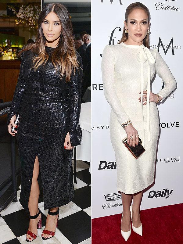 Kim Kardashian Jennifer Lopez Fashion Los Angeles Awards
