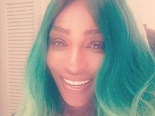 Serena Williams Celebrates St. Patrick's Day a Week Late with New Green Ombré Hair