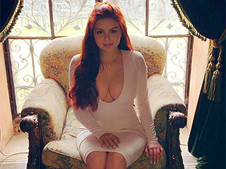 Ariel Winter Celebrates Easter with a Very Low-Cut White Dress