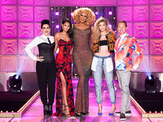 Watch Gigi Hadid Guest Judge on RuPaul's Drag Race Wearing Inside-Out Jeans