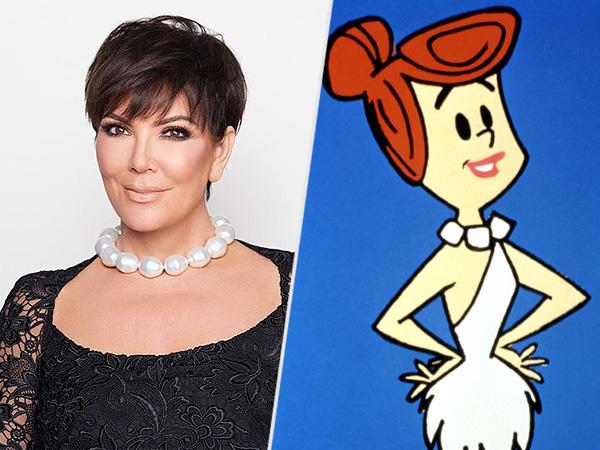 Kris Jenner and Wilma Flintstone