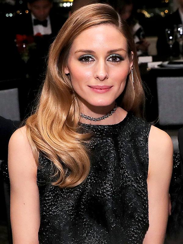 Olivia Palermo green eye shadow