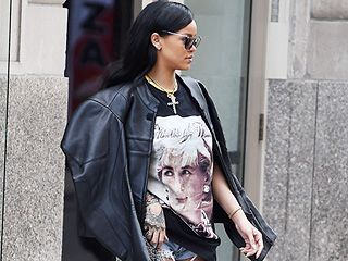 Rihanna Pays Tribute to Late Princess Diana In a Pair of Leg-Baring Thigh-High Denim Boot/Chaps