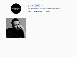 Saint Laurent Wipes the Insta-Slate Clean, Purges Account of All Things Hedi Slimane