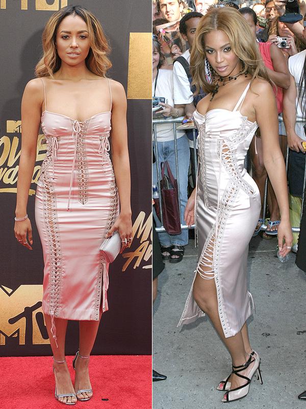 Kat Graham MTV Movie Awards 2016 Dolce & Gabbana dress