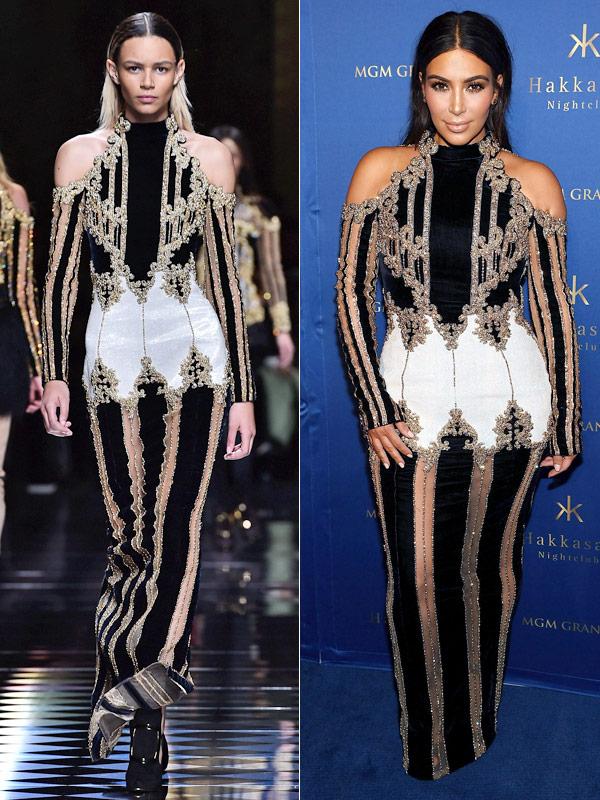 Kim Kardashian Balmain Dress Las Vegas