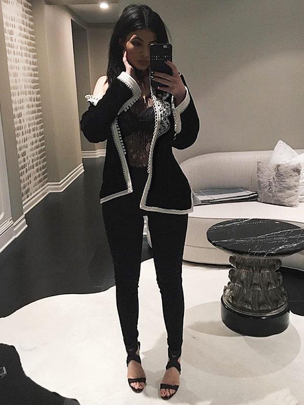 Kylie Jenner metallic lip kit handbags