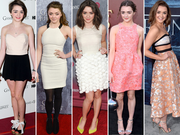 Maisie Williams Game of Thrones style evolution