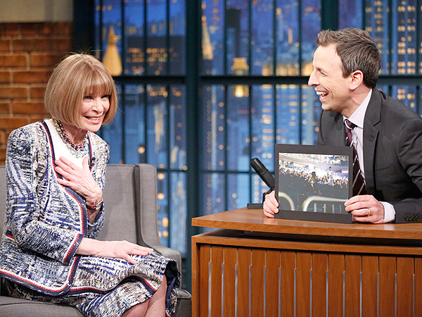 Anna Wintour on Late Night with Seth Meyers