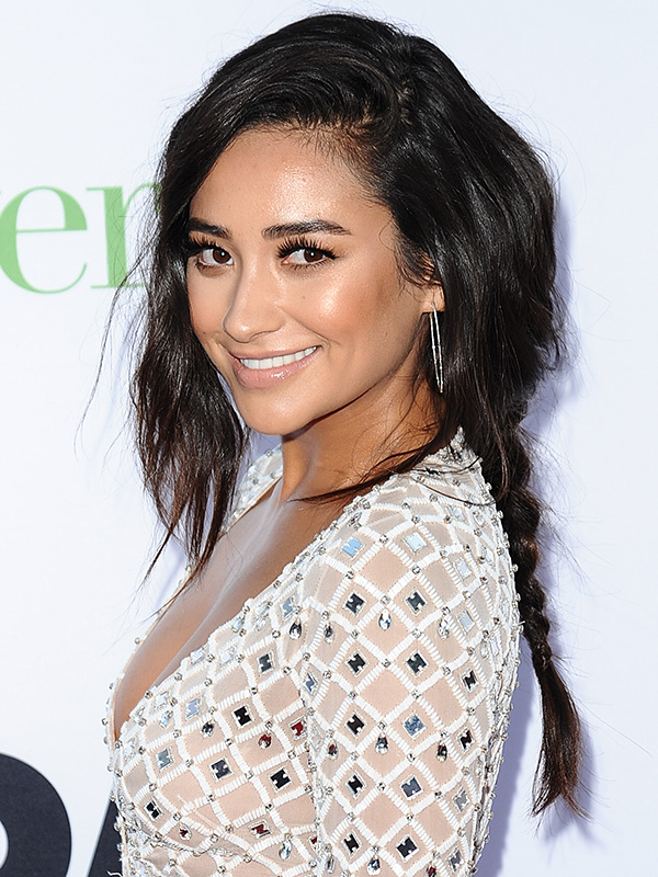 Shay Mitchell braid red carpet Mother's Day premiere