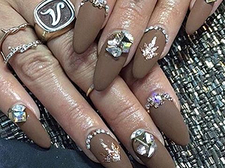 Vanessa Hudgens' $190 Coachella Mani Took 3 Hours and Features Pot Leaves and Swarovski Crystals