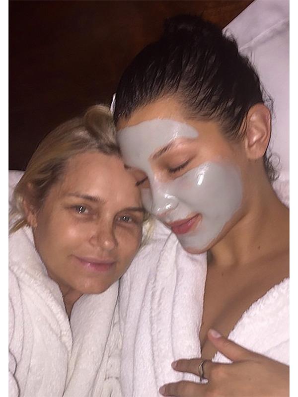 Yolanda and Bella Hadid Face Mask