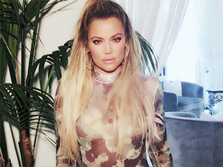 Flaunt It, Khloé! The Star Puts Her Toned Legs on Display in a Super-Sexy Camo Bodysuit