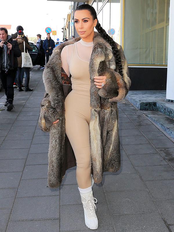 Kim Kardashian nude bodysuit Iceland