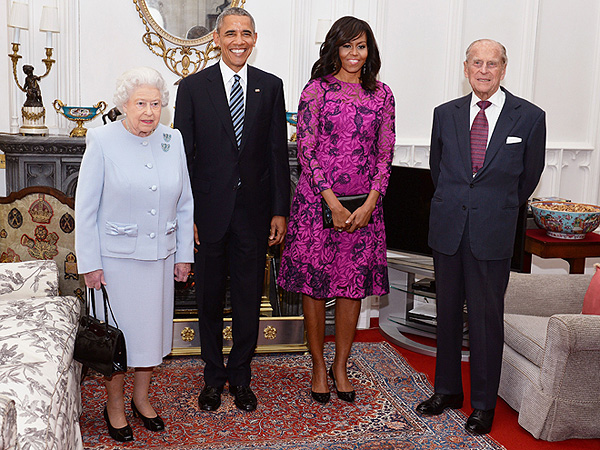 Michelle Obama and Queen Elizabeth England 2016