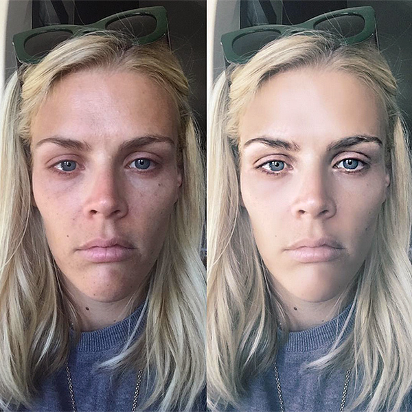 Busy Philipps takes a makeup-free selfie with facetune