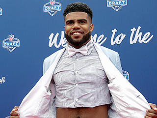 Top N.F.L. Draft Pick, Ezekiel Elliott, Wears a Crop Top – Under His Suit! Find Out Why