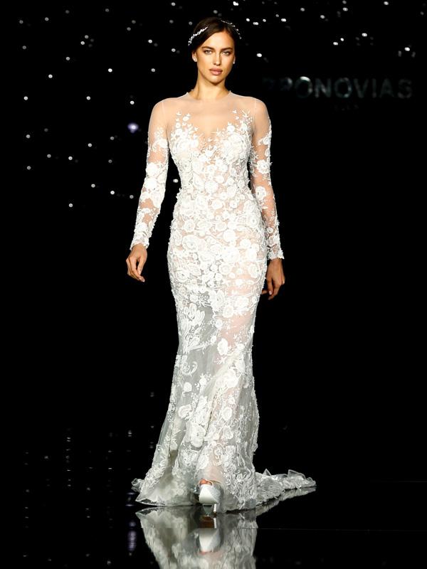 Irina Shayk Pronovias Bridal Fashion Show