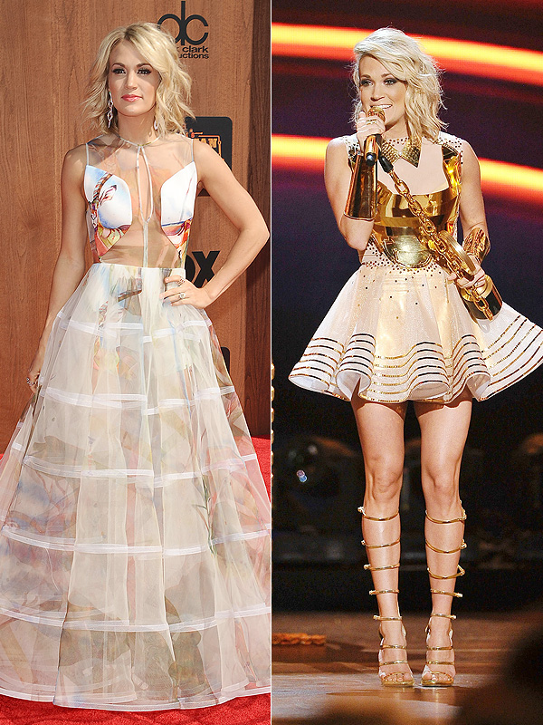 Carrie Underwood sheer dresses